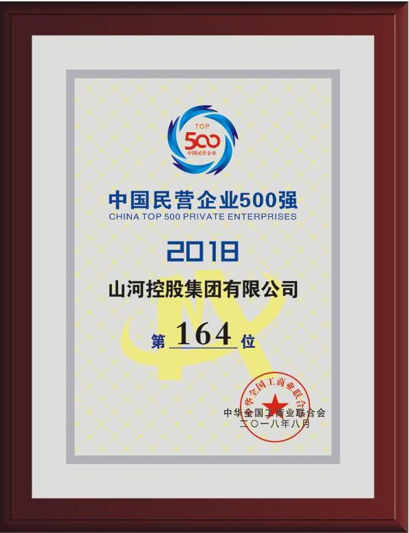 2018中国民营企业500强