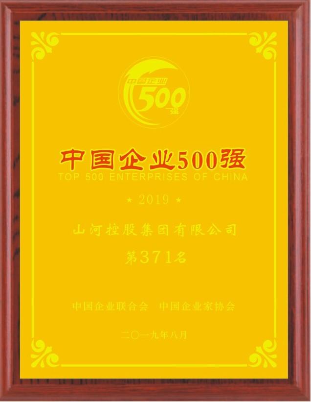 2019中国企业500强
